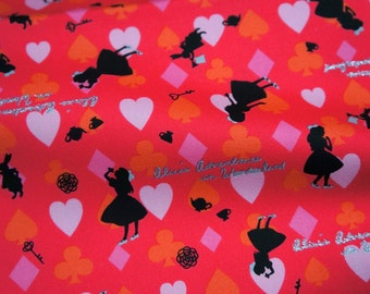 1 meter Alice in Wonderland Fabric nc44