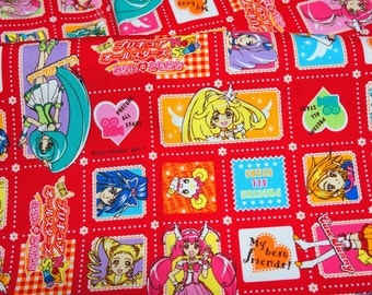 Suite Precure All Stars  fabric Anime print Japanese fabric Half meter  (n431)