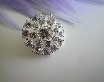 RHINESTONE  BUTTON /  J