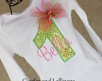 Girls personalized 1st birthday bodysuit