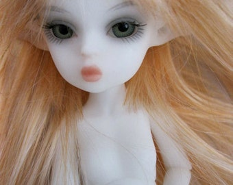 "Basic: Tiny 5 1/2"" Nabiyette BJD ball jointed doll fairy elf New Resin White skin Free Ship USA"