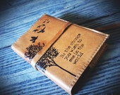 leather journal hand-printed custom for you - be the change you wish to see in the world - personalized