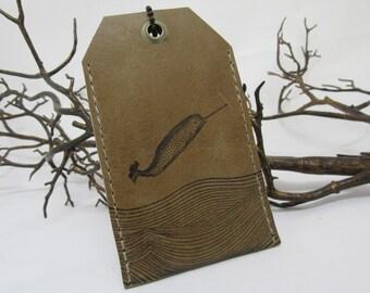 luggage tag leather custom print
