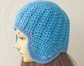 Ear Flap Hat  Crochet Pattern, Instant Download, Hat PDF Pattern, Helmet  Hat Pattern
