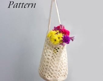 Shopping Tote Bag Crochet Pattern PDF, Net Bag Pattern, Slouchy Bag Pattern,  Market Tote Bag Pattern, Book Bag, Beach Bag