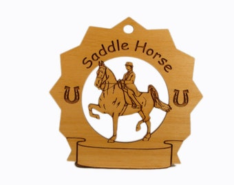 8280 Saddle Horse Personalized Wood Ornament