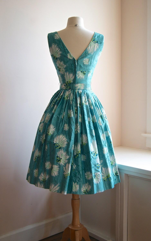 Vintage 50s Alfred Shaheen Hawaiian Print Sun Dress