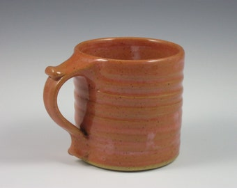 Coral Thumbrest Coffee Mug