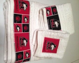 Northern Illinois University NIU Towel Set
