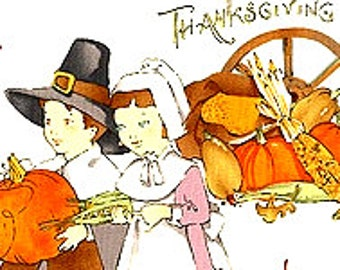 Happy Thanksgiving Alexander Henry Cotton Fabric FAT QUARTER