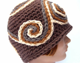 Copper Country, Handmade Psychedelic Spiral Hat