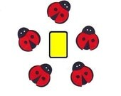 "LADYBUG Insects 1.20"" Cardstock (ST2247) Embellishments Scrapbooking Die Cuts Catching Butterfly Catch Bugs Kids Girls"