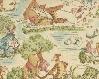 "1 New CUSTOM-MADE Unlined valance 42"" x 14 Winnie the Pooh Vintage-Look Piglet Tigger Eeyore Curtains"
