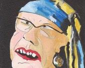 Homage to Jan Vermeer - Girl with a pearl earring