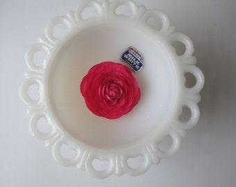 Vintage Anchor Hocking Lacy Milk Glass Pedestal Bowl