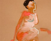 Nude 790- original watercolor painting by Gretchen Kelly