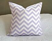 Lavender Chevron Pillow Cover