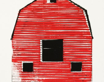 a red barn somewhere in the country
