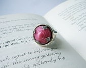 Deco Diva - Adjustable Vintage Glass Ring