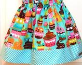 The Olivia Skirt in Sweet Treats -  little girls sizes 1 through 6\7