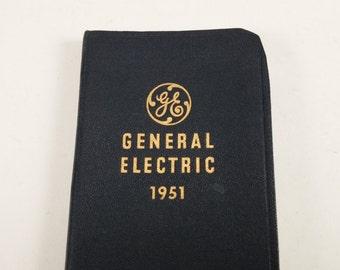 Vintage 1951 general electric unused pocket diary 50s general electric diary mid century GE