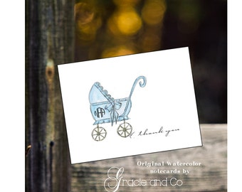 Children baby boy shower new baby personalized notecards, custom personalized notecards,