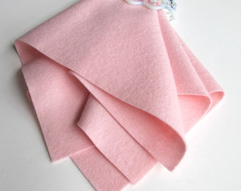 Light Pink Felt, Pure Merino Wool, Choose Size, 1mm Thick Felt, Washable Felt, Pastel Pink,  Toxin Free, DIY Doll Fabric, Waldorf Handwork