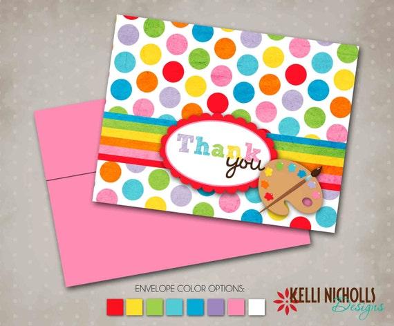 Kelli Nicholls Designs Art Or Painting Party Birthday Invitation - Children's birthday thank you notes