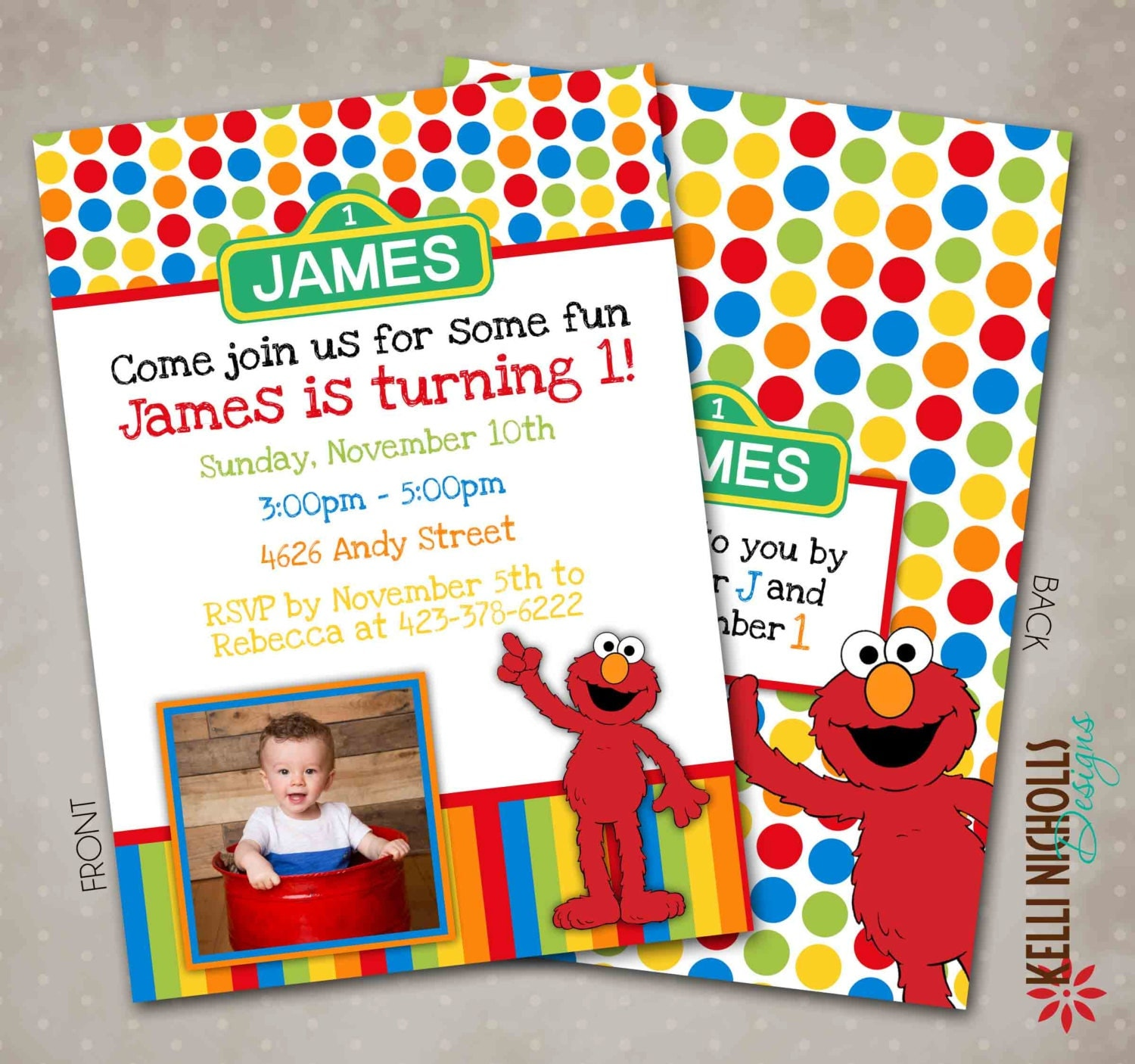 Elmo Birthday Invitations For Twins Elmo Birthday Invitation