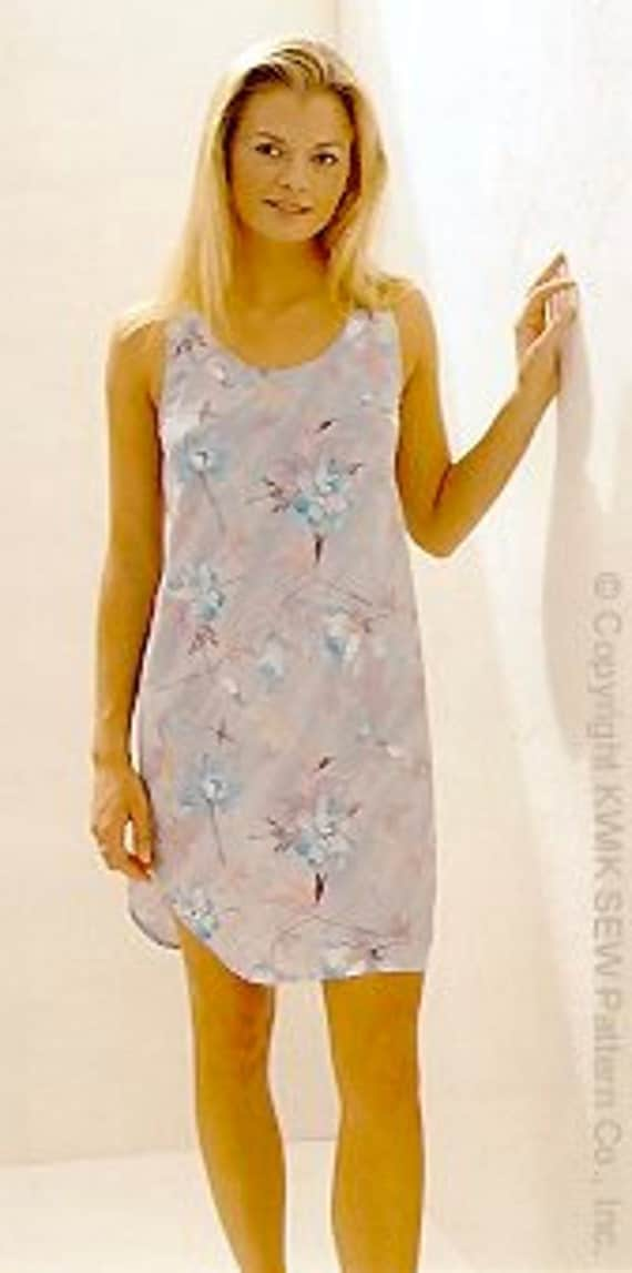 Kwik Sew 2766 Misses Tank Style Nightgown Pattern By Mbchills