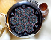 The Mirror and the Tin Collection Starburst 2 Compact Kaleidoscope Millefiori in Polymer Clay