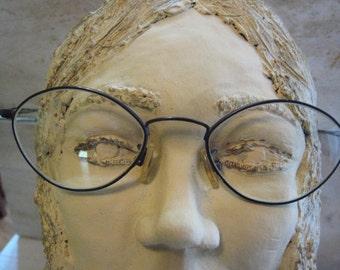 1990s Womens Eyeglasses Italian  Frame Small Oval