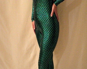 mermaid costume footed catsuit mermaid custom made at your measurements only for you all size