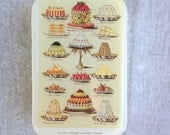 Sweets tin, vintage cookery pill box, treasure box, jewellery box