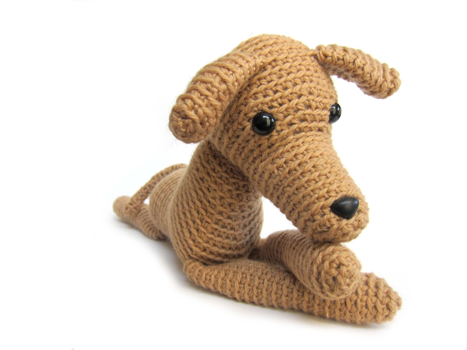 Crochet greyhound: plush amigurumi toy by FreshStitches on ...
