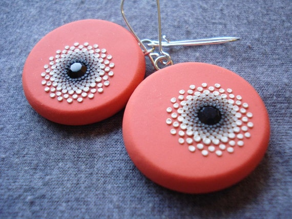 midnight padparascha earrings - reserved