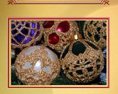Crochet Christmas Ornament Covers 3