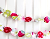 Christmas garland- Hip Holidays fabric circle garland - PaisleyHandmade