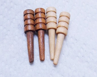 Cribbage Pegs - Mahogany and natural Maple - 4 Pieces