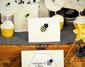 Printable Bumble Bee Party Pack Accessories