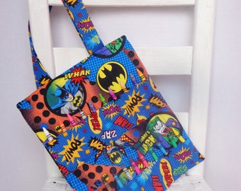 Batman and Robin Crayon Bag Children Coloring Tote Boys Birthday Gift Superhero Comics Quiet Bag Kids Art Gift