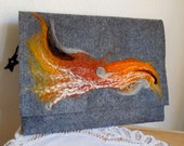 Tablet Case...iPad Case...Notebook Case...Elegant Clutch...Hand Felted Design