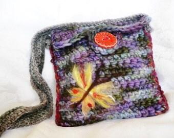 Purse...Shoulder Bag...Hand Made Purse...Knitted Purse...Elegant...Messenger...Bag