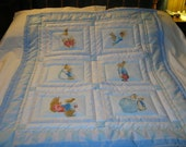 Baby Peter Rabbit, His Mother And Sisters Cotton Baby/Toddler Quilt- NEWLY MADE 2016