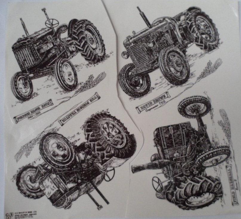 Ceramic Decals Retro Black Amp White Fordson Major E27n Tractor