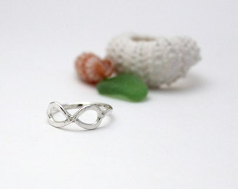 Handmade Infinity Ring - Sterling Silver