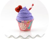 Candy Land Fake Cupcake Photo Prop Candyland Inspired Birthday Decor Glittery Red Heart I Heart Candyland Birthday Photo Props