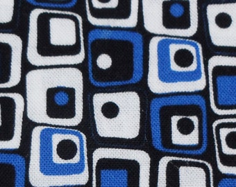 Crooked Squares Blue, White, Black Greyhound, Whippet, Galgo, Pit Bull, Dog Sighthound Martingale Collar