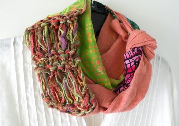 Knitting Wearable Art : Knit scarf women s long woven wearable art fashion
