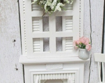 Shabby Style Fireplace Shutters Window And Picket Fence